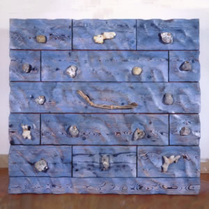 Chest Of Drawers   Pale Blue Sand Ripple 13 Drawer